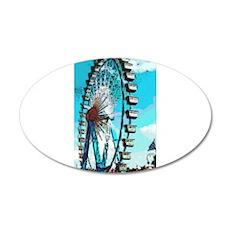 Big Ferris Wheel 22x14 Oval Wall Peel