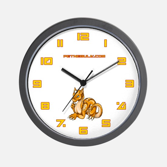 Orange Dragold Wall Clock