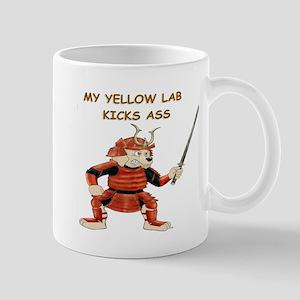 Yellow Lab Samurai Mug