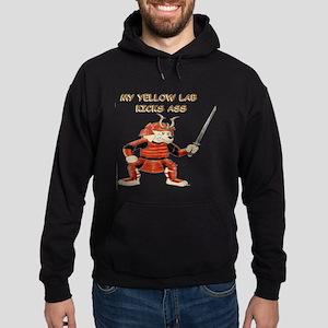 Yellow Lab Samurai Hoodie (dark)