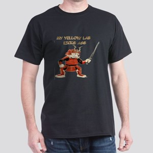 Yellow Lab Samurai Dark T-Shirt
