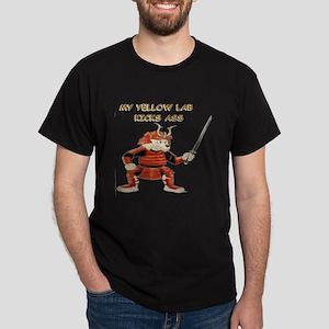 Yellow Lab Samurai Dark T-Shirt