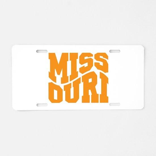 Missouri Aluminum License Plate