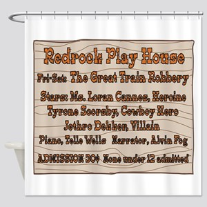 Old West Redrock Play House Shower Curtain