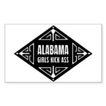 Alabama Girls Kick Ass Sticker (Rectangle 10 pk)