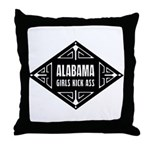 Alabama Girls Kick Ass Throw Pillow