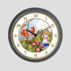 Alice & the Talking Flowers Wall Clock