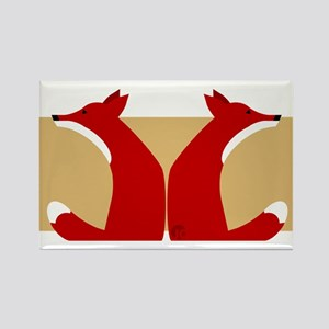 Foxes Rectangle Magnet