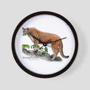 Florida Panther Wall Clock