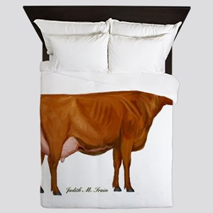 shorthorn canvas and prints Queen Duvet