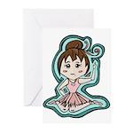 Little Anime Ballerina Greeting Cards (Pk of 20)