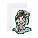Little Anime Ballerina Greeting Cards (Pk of 10)