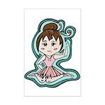 Little Anime Ballerina Mini Poster Print