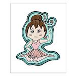 Little Anime Ballerina Small Poster