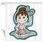 Little Anime Ballerina Shower Curtain