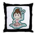 Little Anime Ballerina Throw Pillow