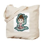 Little Anime Ballerina Tote Bag