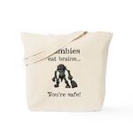 Zombies Eat Brains Tote Bag