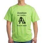 Zombies Eat Brains Green T-Shirt