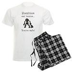 Zombies Eat Brains Men's Light Pajamas