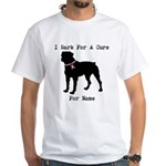 Rottweiler Personalizable I Bark For A Cure White