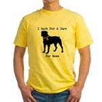 Rottweiler Personalizable I Bark For A Cure Yellow