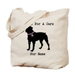 Rottweiler Personalizable I Bark For A Cure Tote B