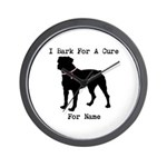Rottweiler Personalizable I Bark For A Cure Wall C