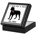 Rottweiler Personalizable I Bark For A Cure Keepsa