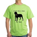 Rottweiler Personalizable I Bark For A Cure Green