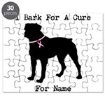 Rottweiler Personalizable I Bark For A Cure Puzzle