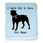 Rottweiler Personalizable I Bark For A Cure baby b