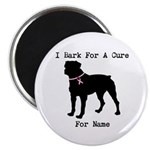 Rottweiler Personalizable I Bark For A Cure Magnet