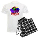 Autism Puzzle Jump Men's Light Pajamas
