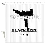 TaeKwonDo Black Belt Shower Curtain