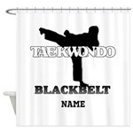 TaeKwonDo Black Belt Shower Curtain