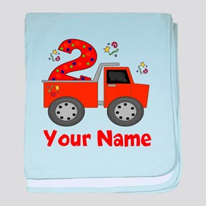 2nd Birthday Dump Truck baby blanket