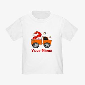 2nd Birthday Dump Truck Toddler T-Shirt