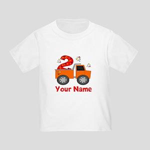 2nd Birthday Dump Truck Toddler T Shirt