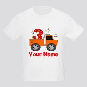 3rd Birthday Dump Truck Kids Light T-Shirt