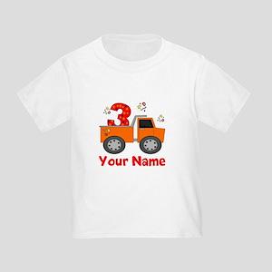 3rd Birthday Dump Truck Toddler T-Shirt