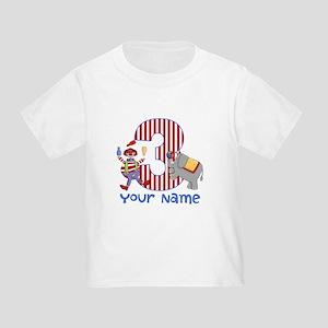 3rd Birthday Circus Toddler T-Shirt