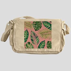 Modern vintage Tropical Palm Leaves Messenger Bag