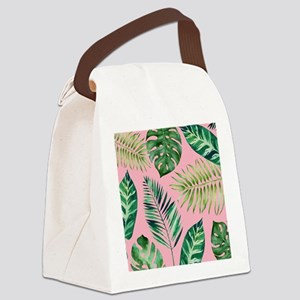 Modern vintage Tropical Palm Leaves Canvas Lunch B