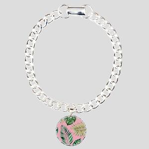 Modern vintage Tropical Palm Leaves Bracelet
