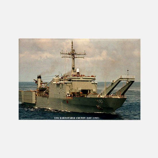 USS BARNSTABLE COUNTY Rectangle Magnet