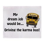 Karma Bus Throw Blanket