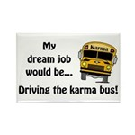 Karma Bus Rectangle Magnet