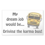 Karma Bus Sticker (Rectangle)