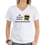 Karma Bus Women's V-Neck T-Shirt